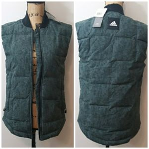 NEW! Adidas Down Lightweight Green and Black Vest